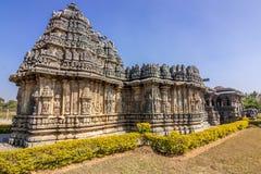Hindu temple at karnataka tourist destination hasan. Hasan Pillars of a hindu temple karnataka india tourist spot destination Royalty Free Stock Photos
