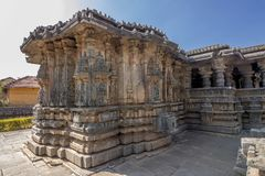 hindu temple at karnataka tourist destination Stock Image
