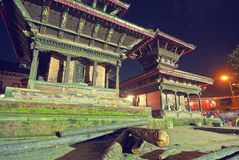 Hindu Temple in Kathmandu Stock Photo