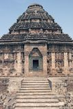 Hindu Temple at Konark. Steps leading to the ancient Hindu Temple at Konark, Orissa, India. Large stone building with domed roof. 13th Century AD Royalty Free Stock Photography