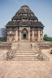 Hindu Temple at Konark. Steps leading to the ancient Hindu Temple at Konark, Orissa, India. Large stone building with domed roof. 13th Century AD Stock Photos