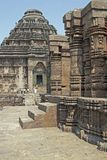 Hindu Temple at Konark, Orissa, India. Ornately carved walls of the ancient Hindu Temple at Konark, Orissa, India. 13th Century AD Stock Images