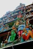 A Hindu Temple in Kuala Lumpur. Top of a Hindu temple in Kuala Lumpur, Malaysia Stock Photos