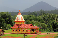 Hindu Temple In kulem Goa India Stock Photos