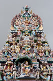 Hindu temple in little India, in Singapore Stock Images