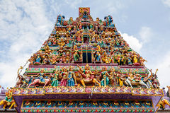 Hindu Temple in Little India, Singapore Stock Images