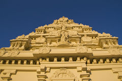 Hindu temple low angle Royalty Free Stock Photos