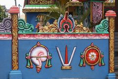 Hindu Temple, Mauritius Island royalty free stock photography