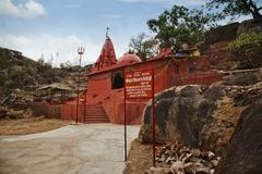 Hindu temple at Mount Abu Stock Photos