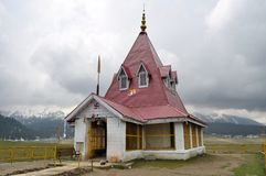 Hindu temple in the mountains of Kashmir Stock Photos