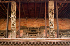 Hindu temple in Nepal Stock Photos