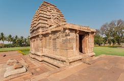 Hindu temple of Pattadakal, Karnataka. UNESCO World Heritage site with stone carved structures of 7th century, India Royalty Free Stock Photography