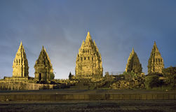 Hindu temple Prambanan. Royalty Free Stock Images