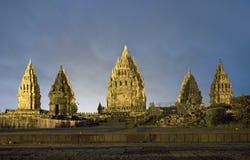 Hindu temple Prambanan. Royalty Free Stock Images