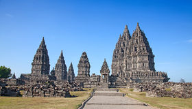 Hindu temple Prambanan Royalty Free Stock Images