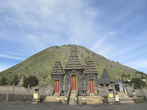 Hindu temple Pura Luhur Poten, Mount Bromo, Java island, Indonesia. Hindu temple Pura Luhur Poten at the foot of Mount Bromo, Java island, Indonesia Royalty Free Stock Image