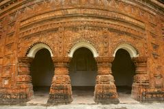Hindu Temple in Puthia, Bangladesh. Stock Image