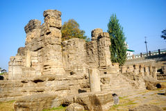 Hindu temple ruins, Avantipur, Kashmir, India Royalty Free Stock Photos