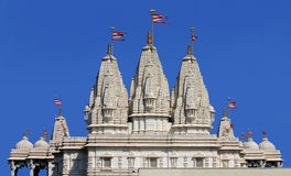 Hindu temple Shri Swaminarayan Mandir Royalty Free Stock Photography