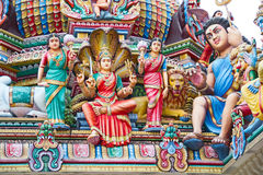 Hindu temple in Singapore Royalty Free Stock Photo
