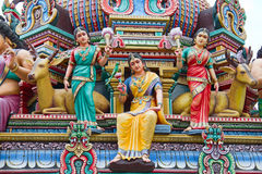 Hindu temple in Singapore Stock Images