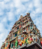 Hindu Temple, Singapore. Hindu Temple in Singapore with holy figures Royalty Free Stock Photos