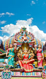 Hindu temple in Singapore over beautiful blue sky Royalty Free Stock Images