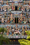 Hindu Temple in Singapore. Sculptures on the hindu temple in  Singapore Royalty Free Stock Photography