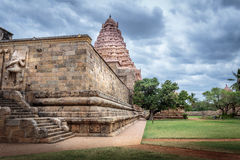 Hindu temple in South India side passage Stock Image