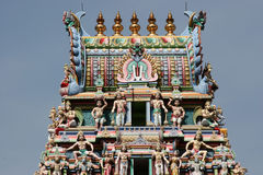 Hindu Temple statues. Hindu Temple figurines in a singapore temple Stock Photography