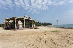 Hindu durga temple in Trincomalee. Hindu temple in Trincomalee, Sri lanka. Hindu god statutes, ancient temple Royalty Free Stock Photography