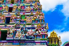 Hindu Temple - Victoria,Seychelles Islands royalty free stock photo