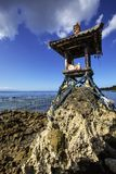 Hindu temple water at low tide, Nusa Penida, Indonesia Stock Photo