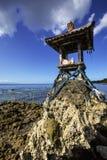 Hindu temple water at low tide, Nusa Penida, Indonesia Stock Photo