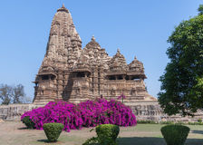 Hindu temple at Western site in India's Khajuraho. Royalty Free Stock Photography