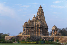 Hindu temple at Western site in India's Khajuraho. Stock Photo