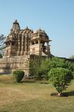 Hindu temples in Khajuraho,hindu sacred place Stock Image