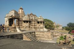 Hindu temples at Khajuraho, India Royalty Free Stock Photo