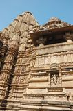 Hindu temples at Khajuraho,India Royalty Free Stock Photography