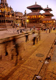 Hindu temples- Nepal. Hindu temples of Durbar (Palace) Square in Patan- Kathmandu Valley, Nepal Stock Images