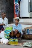 Hindu at the traditional street market, Bali Stock Image