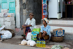Hindu at the traditional street market, Bali Royalty Free Stock Photography