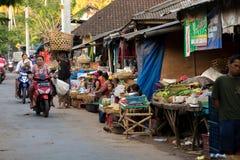 Hindu at the traditional street market, Bali Stock Photography