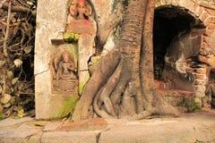 Hindu Tree shrine in Kathmandu, Nepal Stock Images