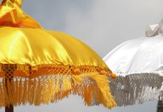 Hindu Umbrellas. Symbolic of the gods royalty free stock photo