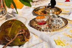 Hindu Wedding. Ceremony set up Royalty Free Stock Photography