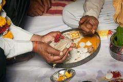 Hindu wedding ritual in india Stock Images