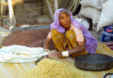 Hindu woman in Indian street market Stock Photography