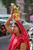 Hindu woman in Nepal Stock Photo