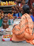 Hindu women browse the market Stock Images